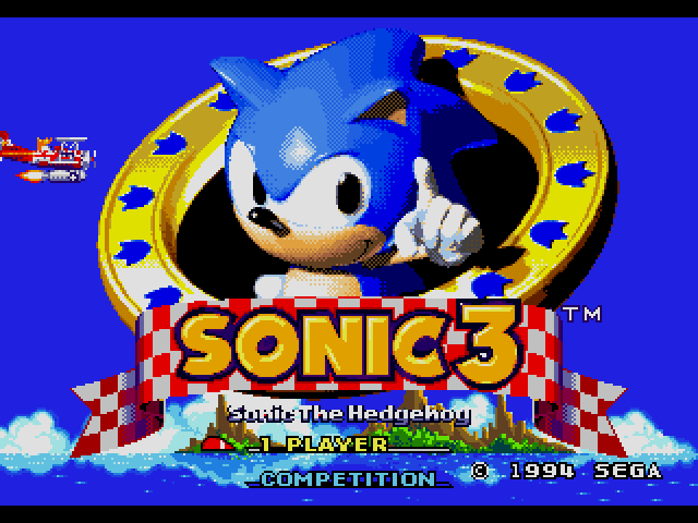 Sonic the Hedgehog 3  title screen image #1