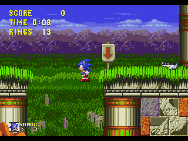 Sonic the Hedgehog 3  in-game screen image #1