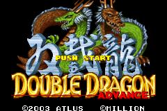 Double Dragon Advance title screen image #1