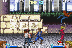 Double Dragon Advance in-game screen image #1