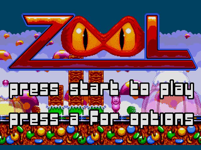 Zool  title screen image #1