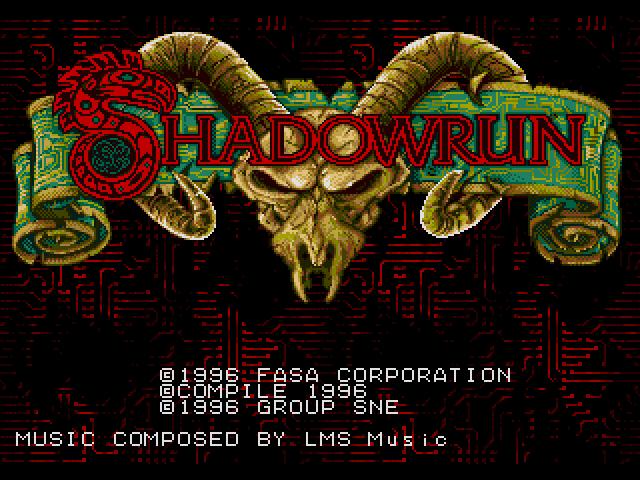 Shadowrun title screen image #1