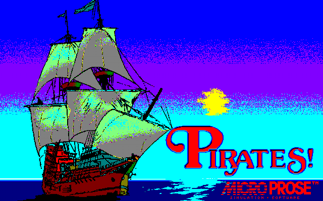 Pirates!  title screen image #1