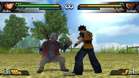 Dragon Ball: Evolution in-game screen image #1