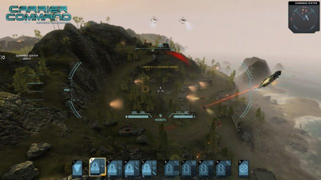 Carrier Command: Gaea Mission  in-game screen image #4