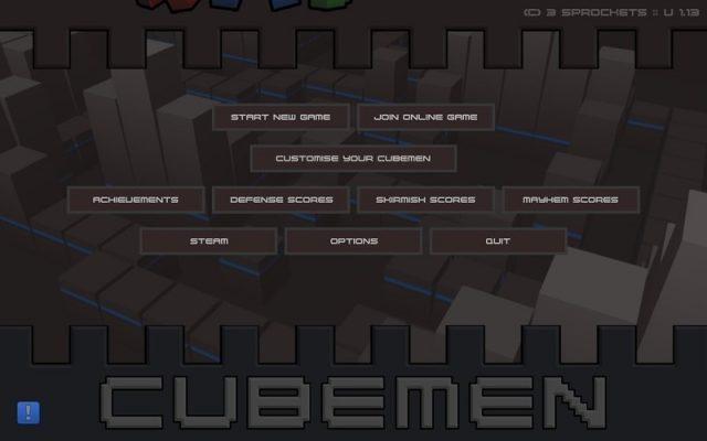 Cubemen title screen image #1