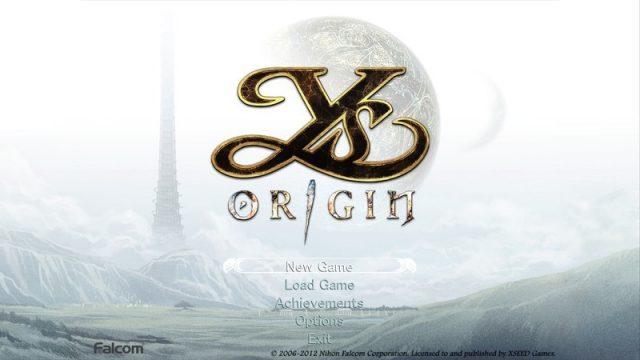 Ys Origin  title screen image #1