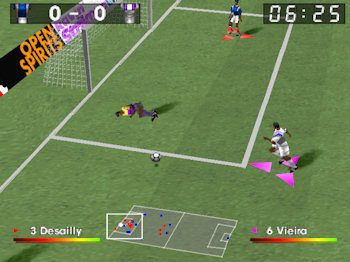 Adidas Power Soccer 2 in-game screen image #1