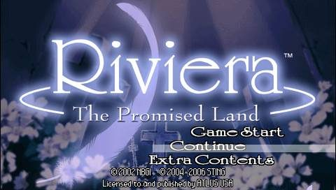 Riviera: The Promised Land  title screen image #1