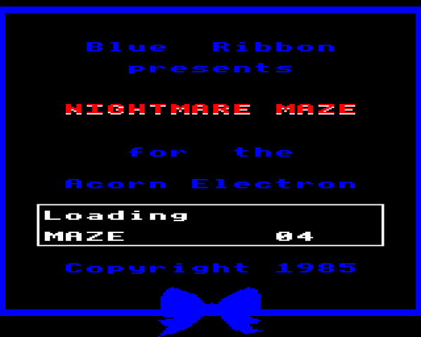 Nightmare Maze title screen image #1