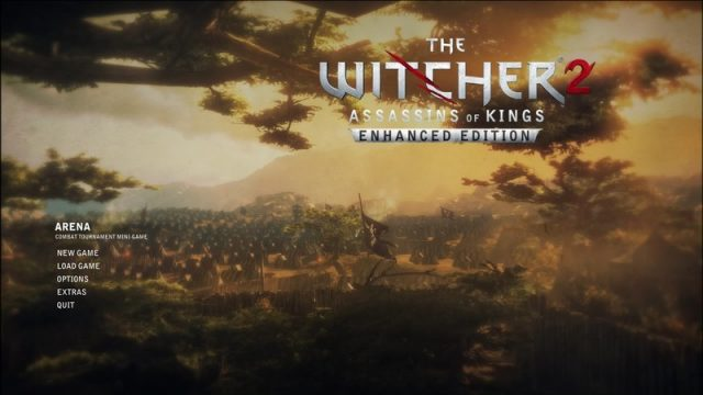 The Witcher 2: Assassins of Kings  title screen image #1