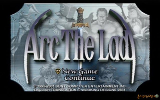 Arc the Lad  title screen image #1