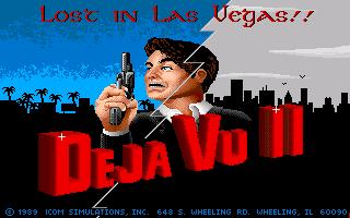 Deja Vu II: Lost in Las Vegas  title screen image #1