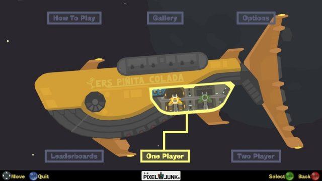 PixelJunk Shooter title screen image #1 Main menu
