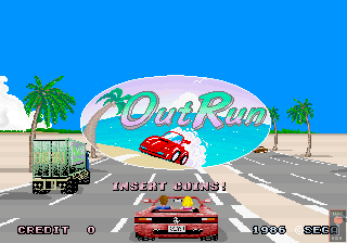 Out Run  title screen image #1
