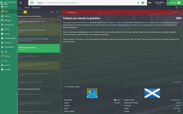 Football Manager 2015 in-game screen image #1