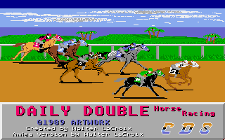 Daily Double Horse Racing title screen image #1