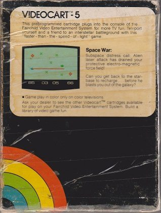 Videocart 5: Space War  package image #1