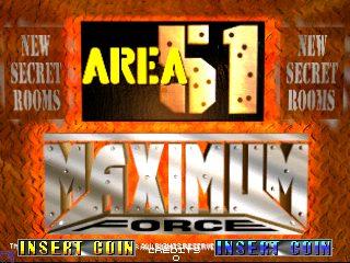 Area 51 / Maximum Force Duo title screen image #1