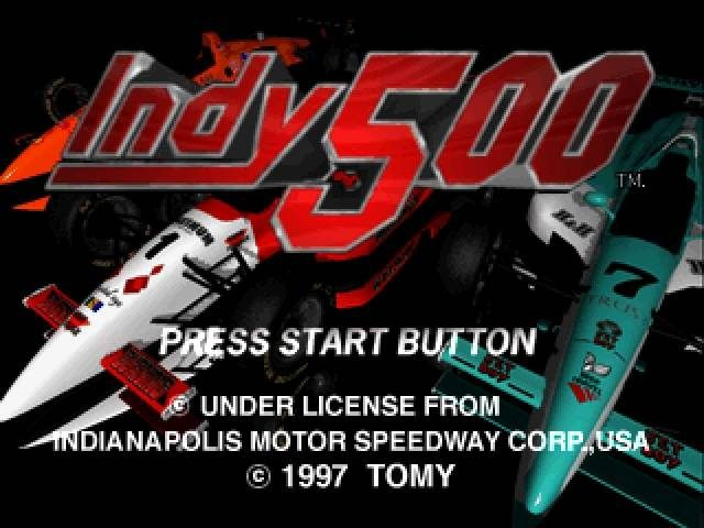 Indy 500  title screen image #1