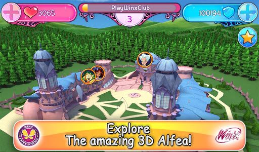 Winx Club: Winx Fairy School  in-game screen image #1