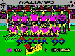 World Cup Soccer: Italia '90  title screen image #1