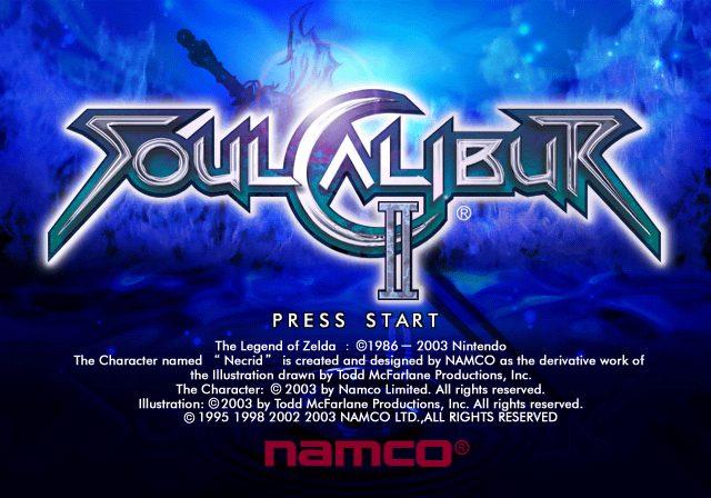 SoulCalibur II  title screen image #1