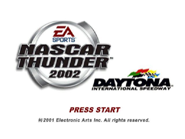 NASCAR Thunder 2002 title screen image #1
