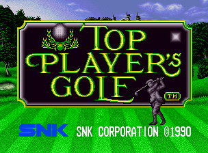 Top Player's Golf title screen image #1