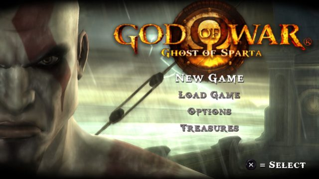 God of War: Ghost of Sparta title screen image #1