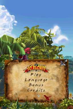 So Blonde: Back to the Island  title screen image #1