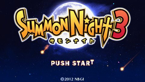 Summon Night 3 title screen image #1
