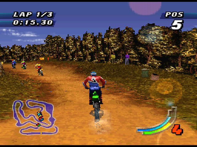 Jeremy McGrath Supercross '98  in-game screen image #1