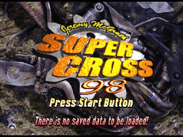 Jeremy McGrath Supercross '98  title screen image #1
