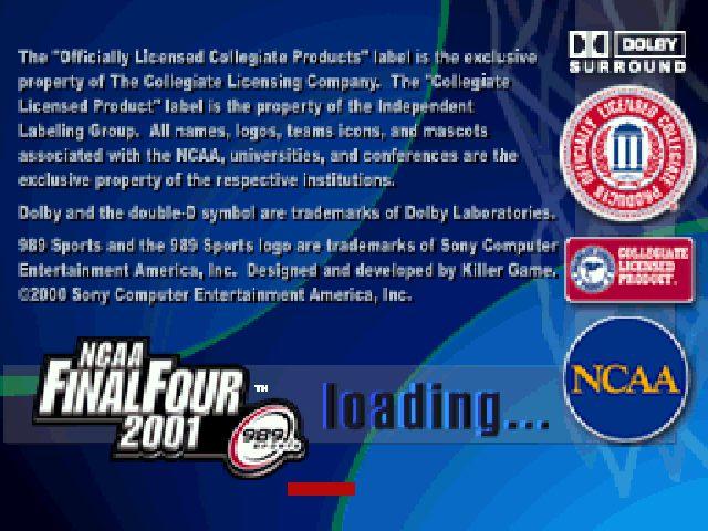 NCAA Final Four 2001 title screen image #1