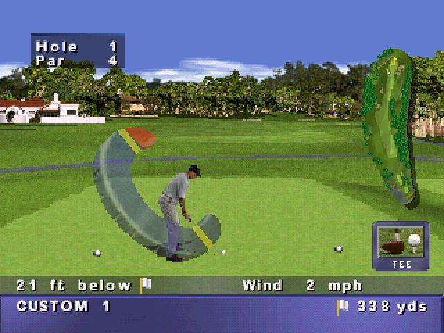 PGA Tour 98 in-game screen image #1
