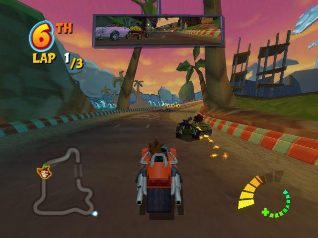 Crash Tag Team Racing in-game screen image #1