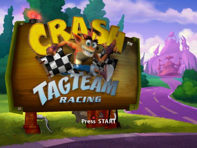Crash Tag Team Racing title screen image #1