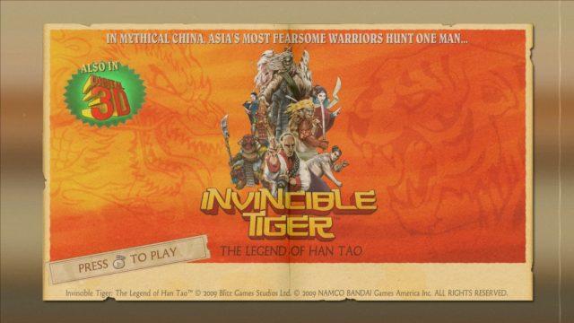 Invincible Tiger: The Legend of Han Tao title screen image #1