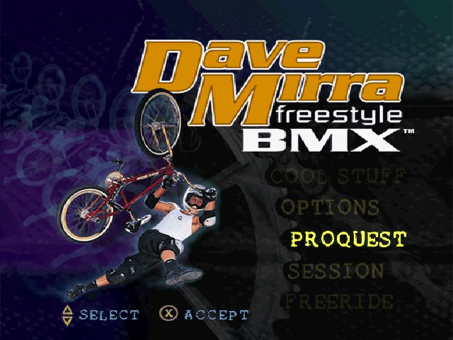 Dave Mirra Freestyle BMX  title screen image #1