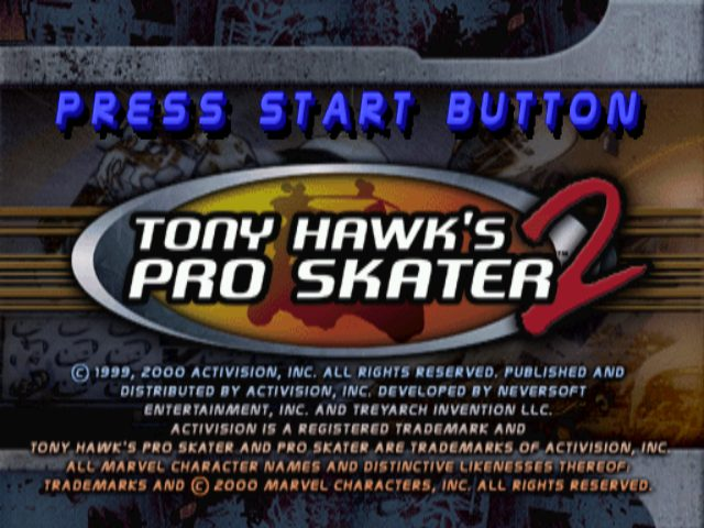 Tony Hawk's Pro Skater 2 title screen image #1