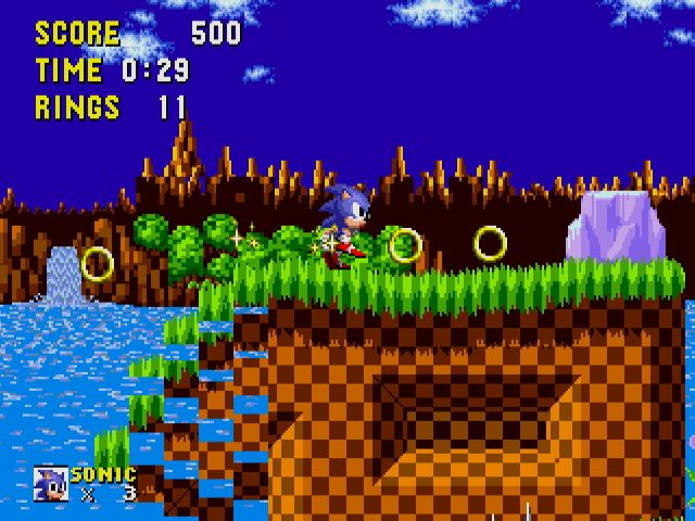 Sonic Mega Collection in-game screen image #1