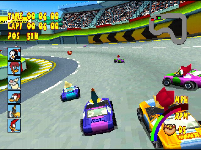 Woody Woodpecker Racing  in-game screen image #1
