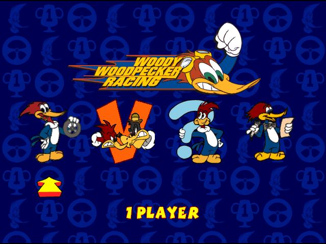 Woody Woodpecker Racing  title screen image #1