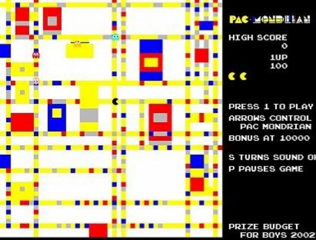 Pac-Mondrian in-game screen image #1